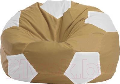 Бескаркасное кресло Flagman Мяч Стандарт М1.1-16 (бежевый/белый)
