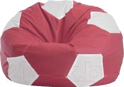 Бескаркасное кресло Flagman Мяч Стандарт М1.1-17 (бордовый/белый)