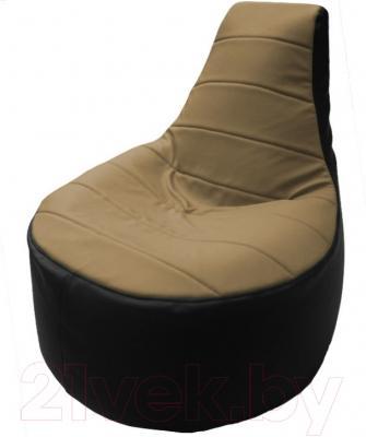 Бескаркасное кресло Flagman Трон Т1.3-06 (бежевый/черный)