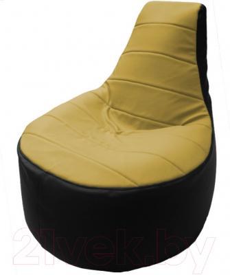 Бескаркасное кресло Flagman Трон Т1.3-08 (охра/черный)