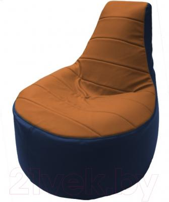 Бескаркасное кресло Flagman Трон Т1.3-15 (оранжевый/синий)