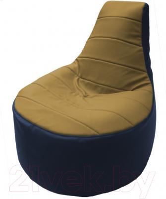 Бескаркасное кресло Flagman Трон Т1.3-17 (охра/синий)