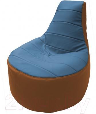 Бескаркасное кресло Flagman Трон Т1.3-23 (голубой/оранжевый)
