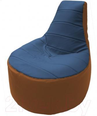 Бескаркасное кресло Flagman Трон Т1.3-25 (синий/оранжевый)