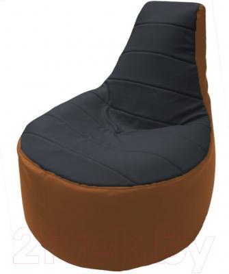 Бескаркасное кресло Flagman Трон Т1.3-26 (черный/оранжевый)