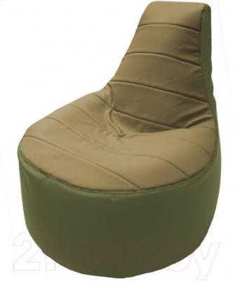 Бескаркасное кресло Flagman Трон Т1.3-27 (бежевый/оливковый)