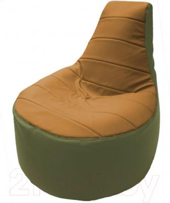 Бескаркасное кресло Flagman Трон Т1.3-29 (оранжевый/оливковый)