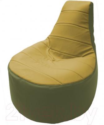 Бескаркасное кресло Flagman Трон Т1.3-30 (охра/оливковый)