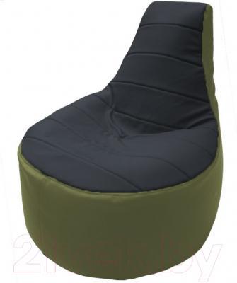 Бескаркасное кресло Flagman Трон Т1.3-32 (черный/оливковый)