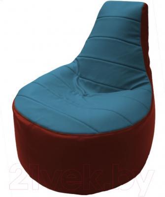 Бескаркасное кресло Flagman Трон Т1.3-33 (голубой/красный)