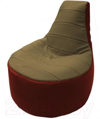 Бескаркасное кресло Flagman Трон Т1.3-36 (бежевый/красный)
