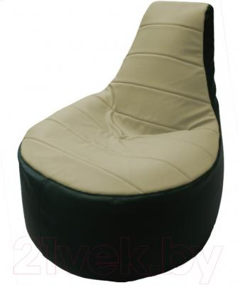 Бескаркасное кресло Flagman Трон Т1.3-41 (светло-бежевый/зеленый)