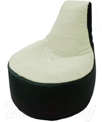 Бескаркасное кресло Flagman Трон Т1.3-42 (белый/зеленый)
