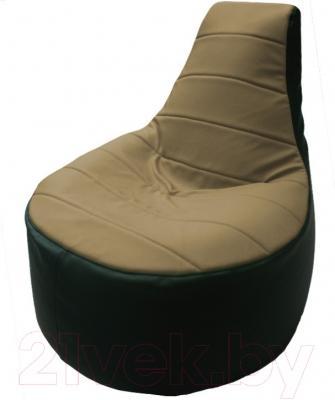 Бескаркасное кресло Flagman Трон Т1.3-43 (бежевый/зеленый)