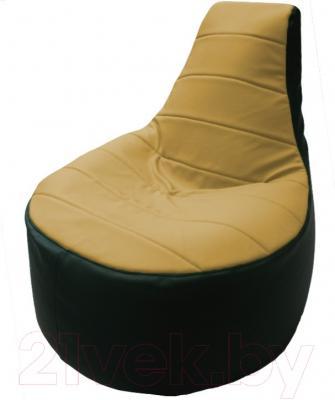 Бескаркасное кресло Flagman Трон Т1.3-44 (охра/зеленый)