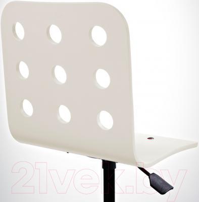 Стул офисный Ikea Юлес 198.850.43 (белый/серебристый) - вид сзади