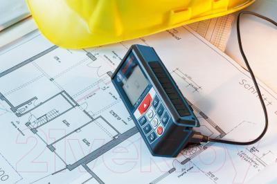 Дальномер лазерный Bosch GLM 80 (0.601.072.300) - в работе