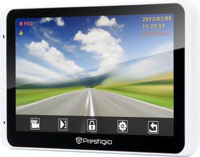 GPS навигатор Prestigio GeoVision 5800 BTHDDVR  - вид сбоку
