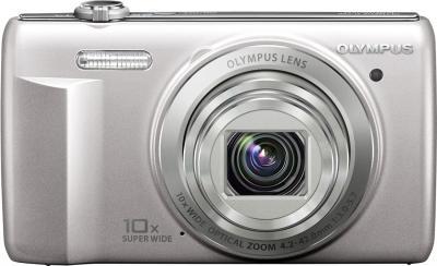 Компактный фотоаппарат Olympus D-750 Silver - вид спереди