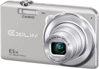 Компактный фотоаппарат Casio Exilim EX-ZS20 (серебристый) - общий вид