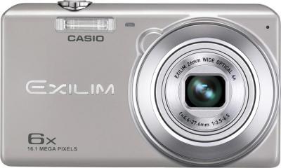 Компактный фотоаппарат Casio Exilim EX-ZS20 (серебристый) - вид спереди