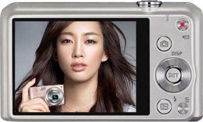 Компактный фотоаппарат Casio Exilim EX-ZS20 (серебристый) - вид сзади