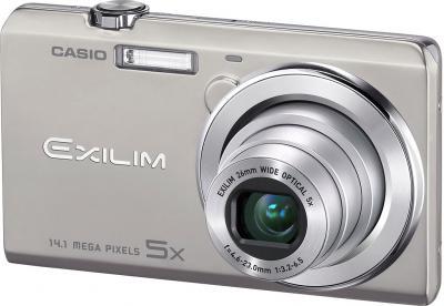 Компактный фотоаппарат Casio Exilim EX-ZS10 (серебристый) - общий вид