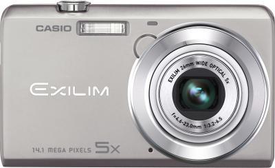 Компактный фотоаппарат Casio Exilim EX-ZS10 (серебристый) - вид спереди