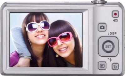 Компактный фотоаппарат Casio Exilim EX-ZS6 (серебристый) - вид сзади
