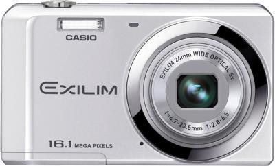 Компактный фотоаппарат Casio Exilim EX-ZS6 (серебристый) - общий вид