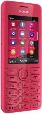 Мобильный телефон Nokia Asha 206 Dual Magenta - общий вид
