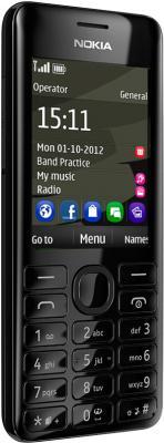 Мобильный телефон Nokia 206 Black - общий вид