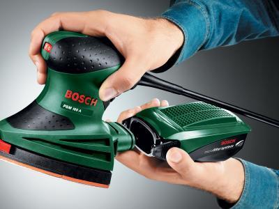 Дельтавидная шлифовальная машина Bosch PSM 160 A (0.603.377.020) - в работе
