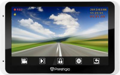 GPS навигатор Prestigio GeoVision 5800 BTHDDVR (microSD 8Gb) - вид спереди