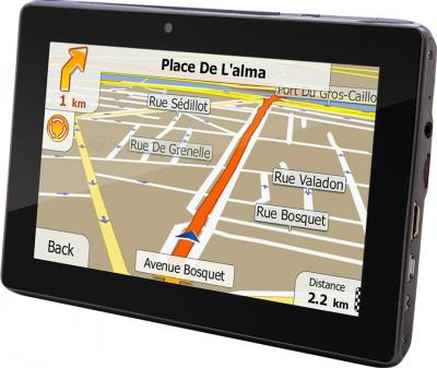 GPS навигатор Prestigio GeoVision 7777 (microSD 8Gb) - вид сбоку