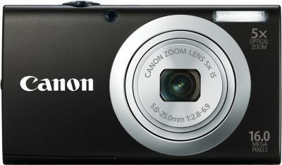 Компактный фотоаппарат Canon PowerShot A2300 Black + чехол и карта памяти - вид спереди