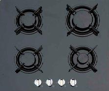 Газовая варочная панель Backer XFG640F-B1 (Black) - общий вид