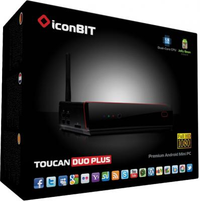 Медиаплеер IconBIT Toucan DUO PLUS - в упаковке