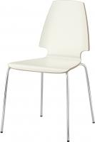 Стул Ikea Вильмар 198.897.48 (белый/хром) -