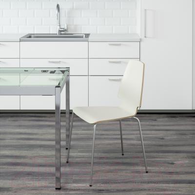 Стул Ikea Вильмар 198.897.48 (белый/хром)
