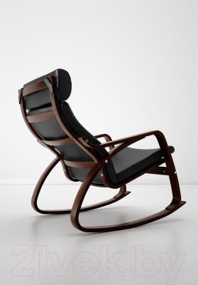 Кресло-качалка Ikea Поэнг 199.008.35 (коричневый/черный)