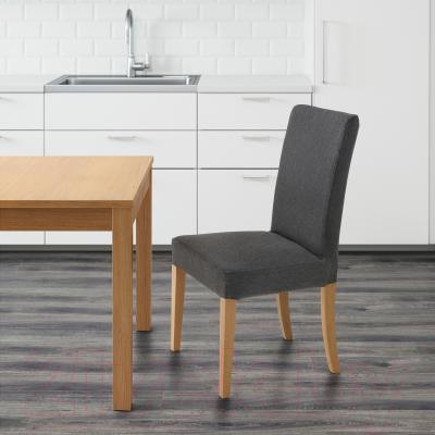 Стул Ikea Хенриксдаль 199.264.54 (дуб/темно-серый)