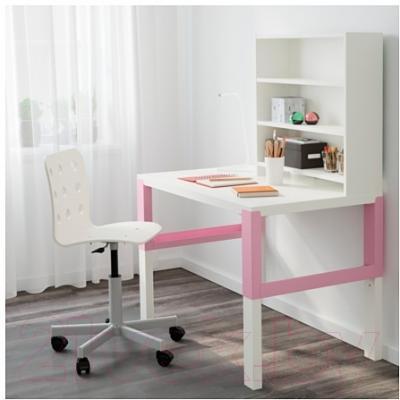 Письменный стол Ikea Поль 391.289.79 (белый/розовый)