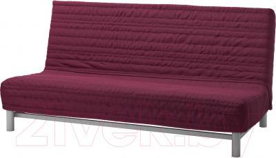Диван-кровать Ikea Бединге Левос 391.289.84 (Книса малиновы)