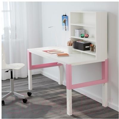 Письменный стол Ikea Поль 391.289.98 (белый/розовый)