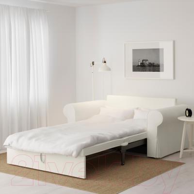 Диван-кровать Ikea Баккабру 391.336.50 (Хильте белый) - в разложенном виде