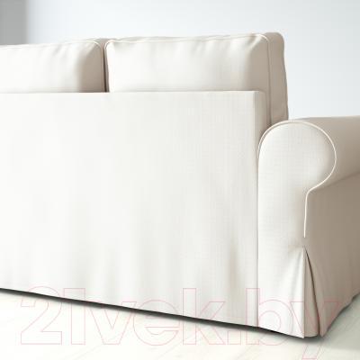 Диван-кровать Ikea Баккабру 391.336.50 (Хильте белый) - вид сзади