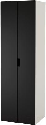 Шкаф Ikea Стува 391.336.69 (белый/черный)
