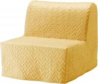 Кресло-кровать Ikea Ликселе Ховет 391.341.45 (желтый) -