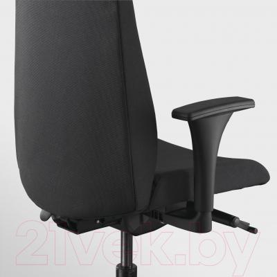 Кресло офисное Ikea Вольмар 391.372.43 (черный) - вид сзади